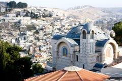 Vista de Jerusalén oriental imagenes de archivo