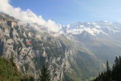 Vista de Jungfrau de Murren Switzerland fotografia de stock royalty free