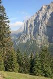 Vista de Jungfrau de Murren Switzerland foto de stock