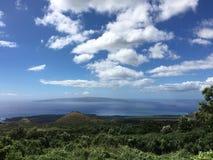 Vista de Kaho'olawe vecino Foto de archivo libre de regalías