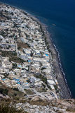 Vista de Kamari em Santorini imagem de stock