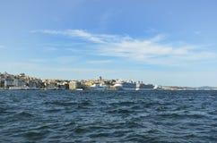 Vista de Karakoy de Eminonu em 2012 Fotos de Stock Royalty Free