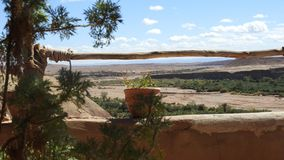 Vista de Kasbah Aît Ben Haddou, Maroc foto de stock