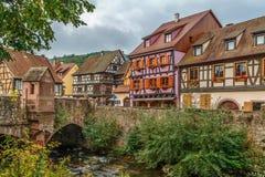Vista de Kaysersberg, França Fotografia de Stock Royalty Free