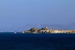 Vista de Kerkira, Corfu Fotografia de Stock