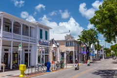 Vista de Key West do centro, Florida Foto de Stock Royalty Free