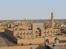 Vista de Khiva, Usbequistão Fotos de Stock Royalty Free