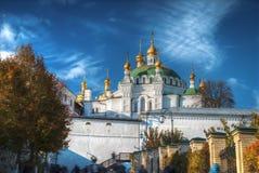 Vista de Kiev Pechersk Lavra imagens de stock