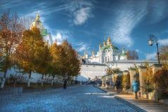 Vista de Kiev Pechersk Lavra imagem de stock