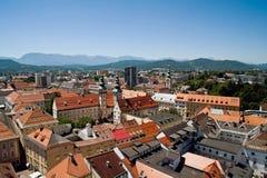 Vista de Klagenfurt Fotografía de archivo libre de regalías