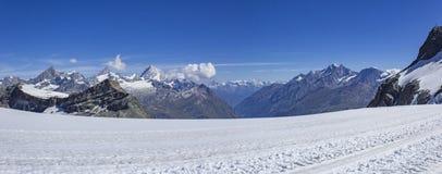 Vista de Klein Matterhorn Foto de Stock