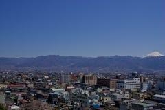 Vista de Kofu Japón foto de archivo