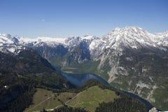 Vista de Konigsee de Jenner Fotos de archivo libres de regalías
