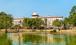 Vista de Krishi Bhavan, un edificio gubernamental en Nueva Deli, la India imagenes de archivo