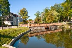 Vista de Kuldiga, Letónia Imagem de Stock Royalty Free