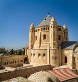 Vista de la abadía de Dormition en Jerusalén Imágenes de archivo libres de regalías