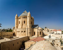 Vista de la abadía de Dormition en Jerusalén Fotos de archivo