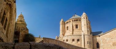Vista de la abadía de Dormition en Jerusalén Fotos de archivo libres de regalías