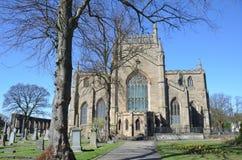 Vista de la abadía de Dunfermline Imágenes de archivo libres de regalías