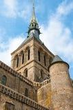 Vista de la abadía de Mont Saint Michel Fotos de archivo libres de regalías