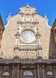 Vista de la abadía de Santa Maria de Montserrat (fundada en 1025), h Imágenes de archivo libres de regalías