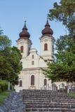Vista de la abadía de Tihany en el lago Balatón en Hungría Foto de archivo libre de regalías