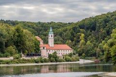 Vista de la abadía de Weltenburg, Alemania Imagenes de archivo