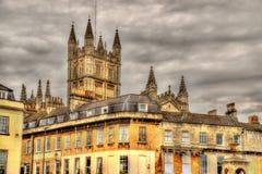 Vista de la abadía del baño - Inglaterra Fotos de archivo libres de regalías