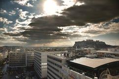 Vista de la acrópolis del cuadrado del sintagma Imagenes de archivo