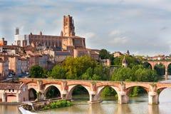 Vista de la Albi, Francia Fotos de archivo libres de regalías