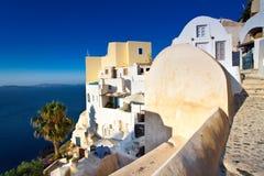 Vista de la aldea de Santorini Oia Imagen de archivo