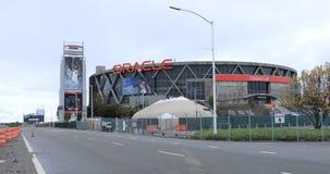 Vista de la arena de Oracle en Oakland, hogar de los guerreros 4K del Golden State de NBA
