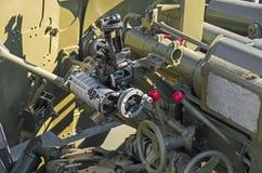 Vista de la artillería Imágenes de archivo libres de regalías