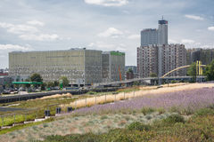 Vista de la avenida Rozdzienskiego en Katowice, Polonia Imágenes de archivo libres de regalías