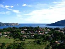 Vista de la bahía de Boka Kotorska, Montenegro imágenes de archivo libres de regalías