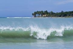 Vista de la bahía de Arugam, Sri Lanka Imagenes de archivo