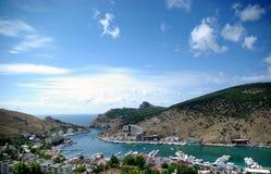 Vista de la bahía de Balaklava imágenes de archivo libres de regalías