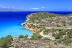 Vista de la bahía de Creta Grecia Foto de archivo libre de regalías