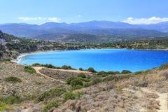 Vista de la bahía de Creta Grecia Imagenes de archivo