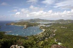 Vista de la bahía de falmouth Fotos de archivo libres de regalías