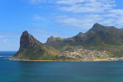 Vista de la bahía de Hout del pico de Chapmans Fotos de archivo libres de regalías