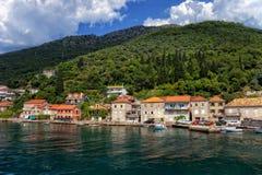 Vista de la bahía de Kotor Fotografía de archivo libre de regalías
