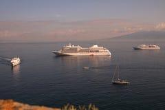 Vista de la bahía de Nápoles Imagen de archivo