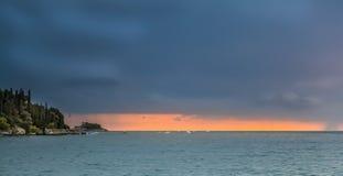Vista de la bahía del mar adriático Imagen de archivo