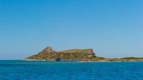 Vista de la bahía del Mirabella Crete, Grecia imagen de archivo