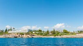 Vista de la bahía del Mirabella Crete, Grecia imagenes de archivo