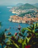Vista de la bahía de Dubrovnik foto de archivo libre de regalías