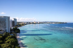 Vista de la bahía hermosa de Tumon Foto de archivo