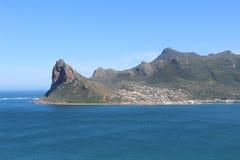 Vista de la bahía de Hout del pico del ` s del buhonero fotos de archivo libres de regalías