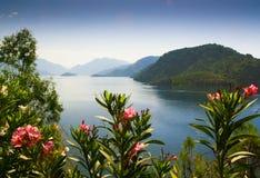 Vista de la bahía. Icmeler Imágenes de archivo libres de regalías